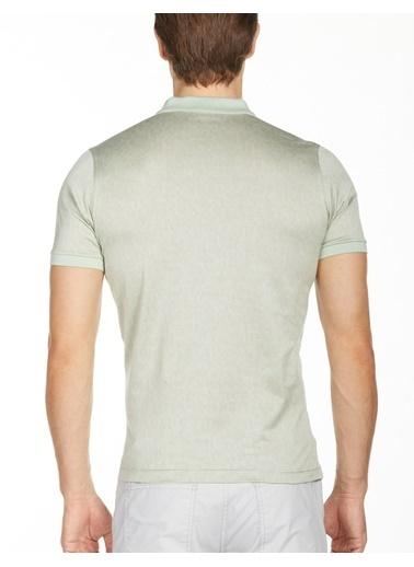 Bisse TS20Y20103 Ts 20103 Merserize - Fermuarlı Kol Bantlı Tshirt Yeşil